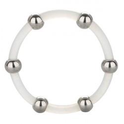 Anneau de silicone avec perles d'acier XL