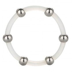 Silicone Ring with Steel Beads XL