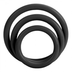 Tri Rings Set Black Rings