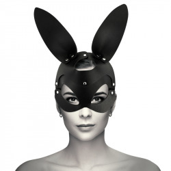 Vegan Leather Mask with Rabbit Ears