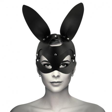 Máscara Cuero Vegano con Orejas de Conejo