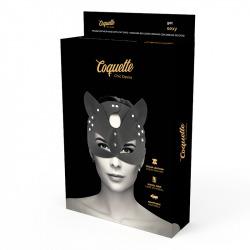 Máscara Cuero Vegano con Orejas de Gato