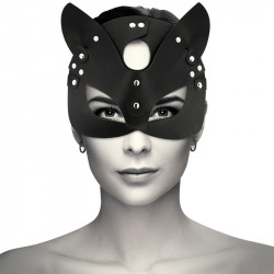 Vegan Leather Mask with Cat Ears