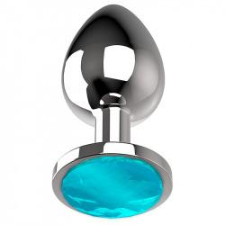 Plug Anal de Metal Talla L Azul