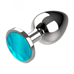 Plug Anal de Metal Talla M Azul