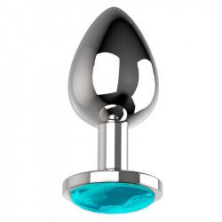 Metal Anal Plug Size M Blue
