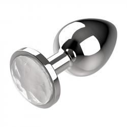 Plug Anal de Metal Talla M Transparente