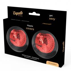 Cubre Pezones Rojo Lentejuelas