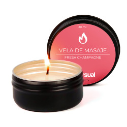 Strawberry and Champagne Massage Candle 30 ml