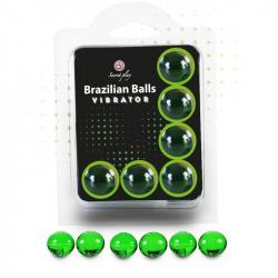 Set 6 Brazilian Balls Vibración Menta
