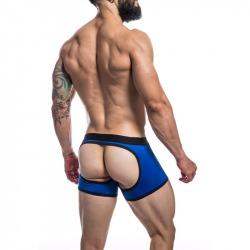 Boxer Trasera Descubierta Azul