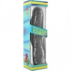 Vinil P-Shape Vibrator Black Pene 20 Cm.