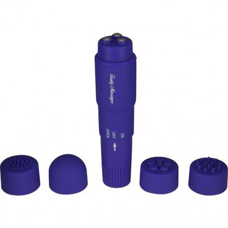Estimulador Con Cabezales Intercambiables Lila