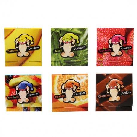 Expositor 120 Condones Unitarios De Sabores