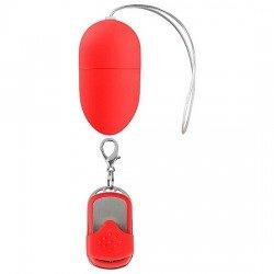 Huevo Vibrador 10 Velocidades Control Remoto Rojo Mediano