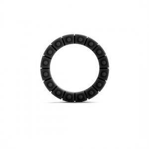 The wheel black silicone penis ring