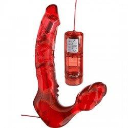 Harnais double pénétration sont des sangles avec vibrateur