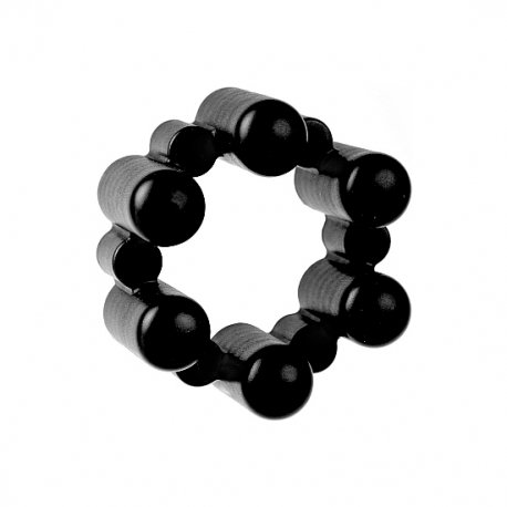 SixShot Terminator vibrating ring with 6 bullets black