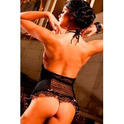 Friponneries thong Black Lace et net Baci