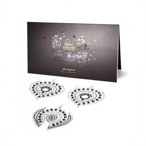 Adhesive jewellery Flamboyant black silver