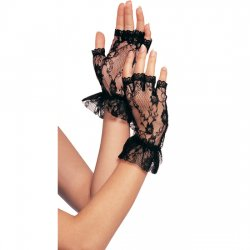 Lace mitts black from Leg Avenue