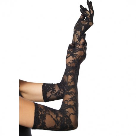 Black Lace Gloves Opera Leg Avenue