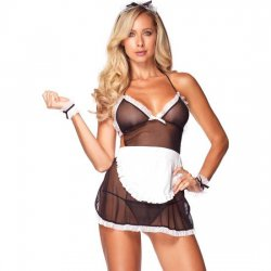 French maid costume Leg Avenue 4-piece