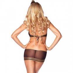 Disfraz de Auxilar de Vuelo Super Sexy de Leg Avenue