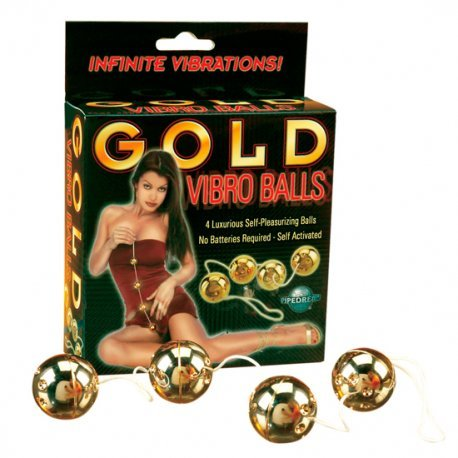 Gold Vibro Balls Bolas Chinas