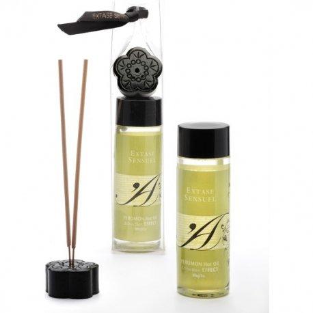 Huile de massage avec effet de chaleur phéromones Mojito