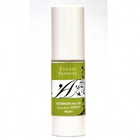 Extase Sensuel effect heat massage oil with pheromones Mojito