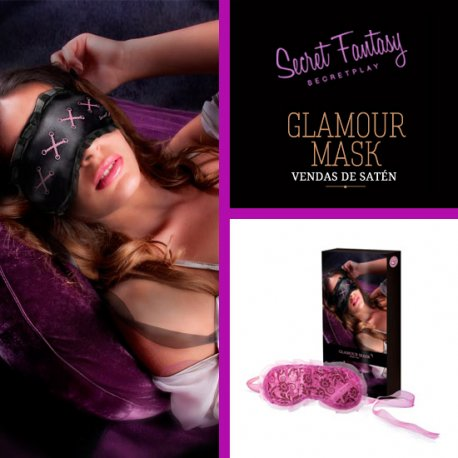 Masque bande satin pur Glamour de Secret jouer