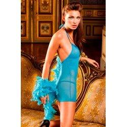 Vestido de Encaje de Puntos y Redecilla de Baci Lingerie