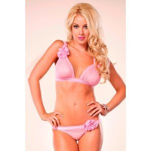 Bra and panties Brazilian LEg Avenue of roses