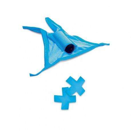 Tanga Vibrador y Pasties Azul de Neon