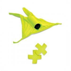 Vibromasseur Thong et jaune néon Pasties