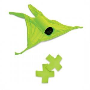 Thong vibrator and Pasties Neon Green