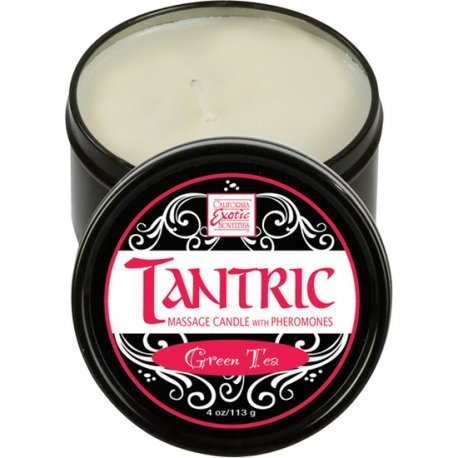 Massage Tantric with pheromones green tea candle