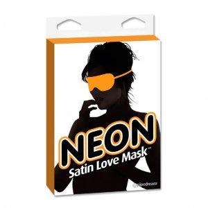 Mascara Naranja de Saten Neon