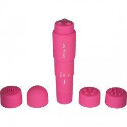 Estimulador con Cabezales Intercambiables Rosa