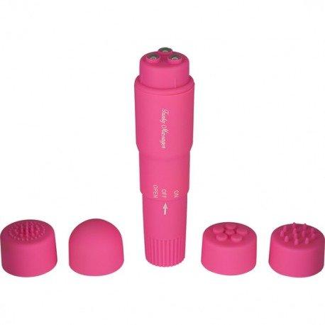 Stimulateur avec têtes interchangeables rose