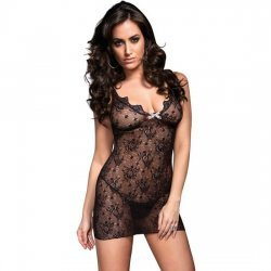 Cheatings with opening in back and Leg Avenue Floral lace
