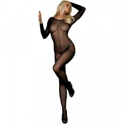 Body full-length long sleeve opaque Leg Avenue
