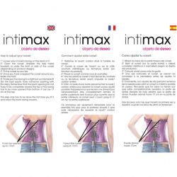 Corse purple thong and garter belt Moragana Intimax