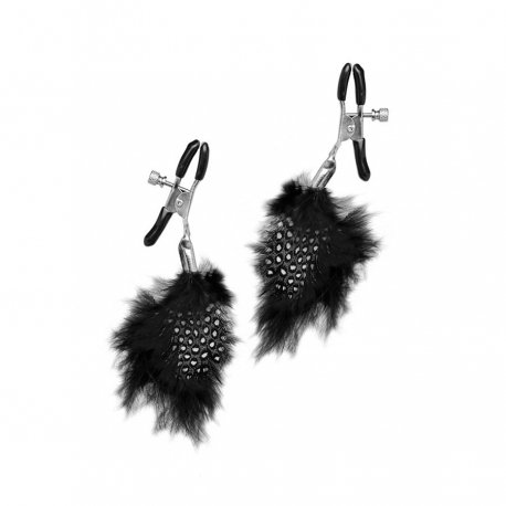 Clips Fetish Fantasy feather black limited edition