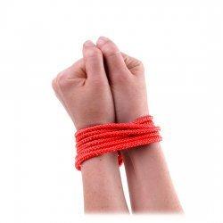 Mini Cuerda de Seda Roja