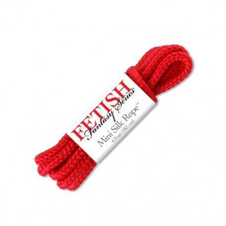 Mini cordon de soie rouge
