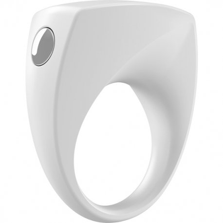 Ovo B6 white vibrating ring