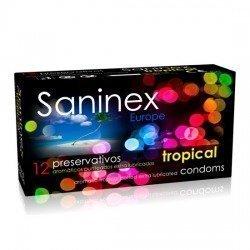 Préservatifs Saninex 12 tropicales aromatiques PCs