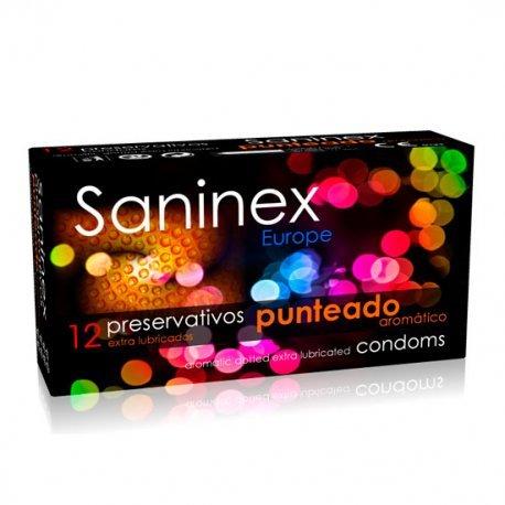 Condoms 12 PCs Saninex dotted